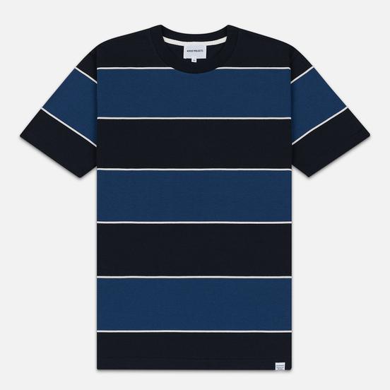 Мужская футболка Norse Projects Johannes 3 Stripe Twilight Blue