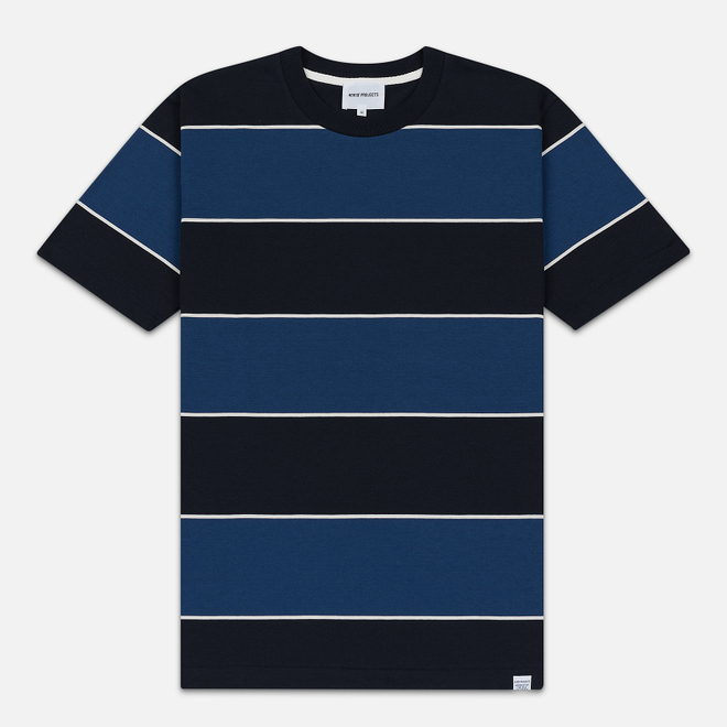 Мужская футболка Norse Projects Johannes 3 Stripe Twilight Blue