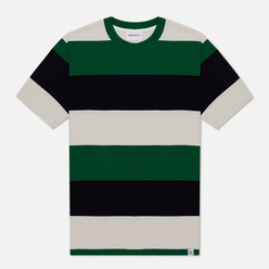Мужская футболка Norse Projects Johannes Border Stripe Sporting Green