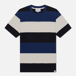 Мужская футболка Norse Projects Johannes Border Stripe Twilight Blue
