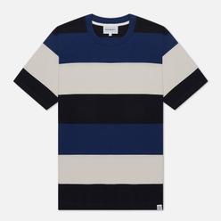 Мужская футболка Norse Projects Johannes Border Stripe Twilight Blue