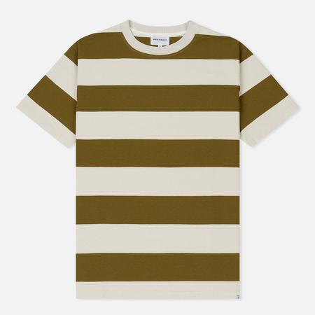 Мужская футболка Norse Projects Johannes Wide Stripe Warm Brass