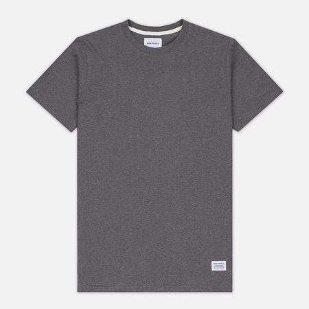 Мужская футболка Norse Projects Niels Basic SS Charcoal Melange