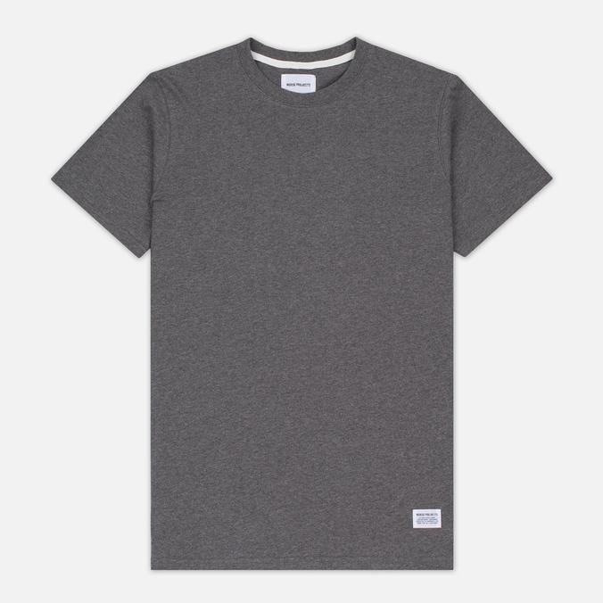 Мужская футболка Norse Projects Niels Basic SS Charcoal Melange