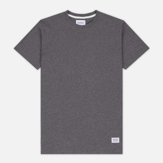 Norse Projects Niels Basic SS Men's T-Shirt Charcoal Melange