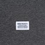 Norse Projects Niels Basic SS Men's T-Shirt Charcoal Melange photo- 3