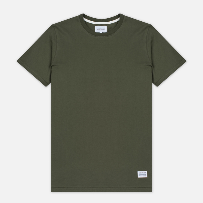 Мужская футболка Norse Projects Niels Basic SS Dried Olive