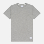 Norse Projects Niels Basic SS Men's T-Shirt Light Grey Melange photo- 0