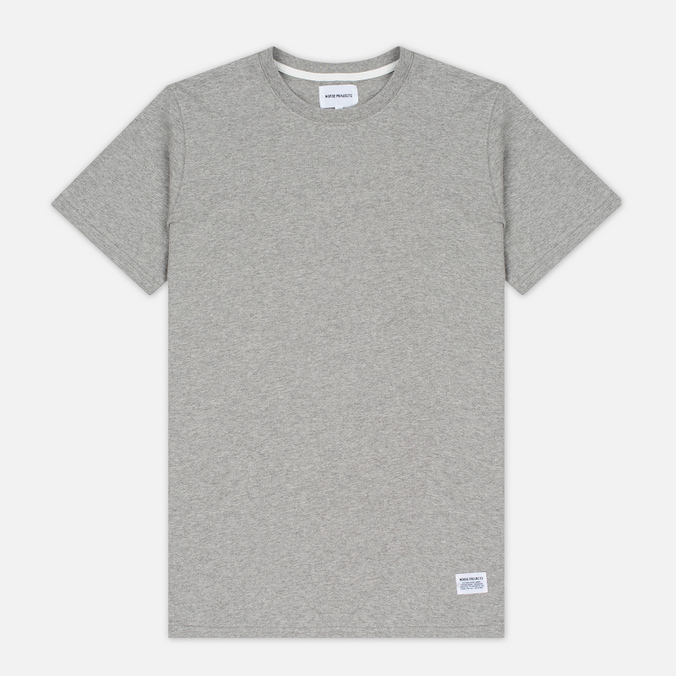 Мужская футболка Norse Projects Niels Basic SS Light Grey Melange