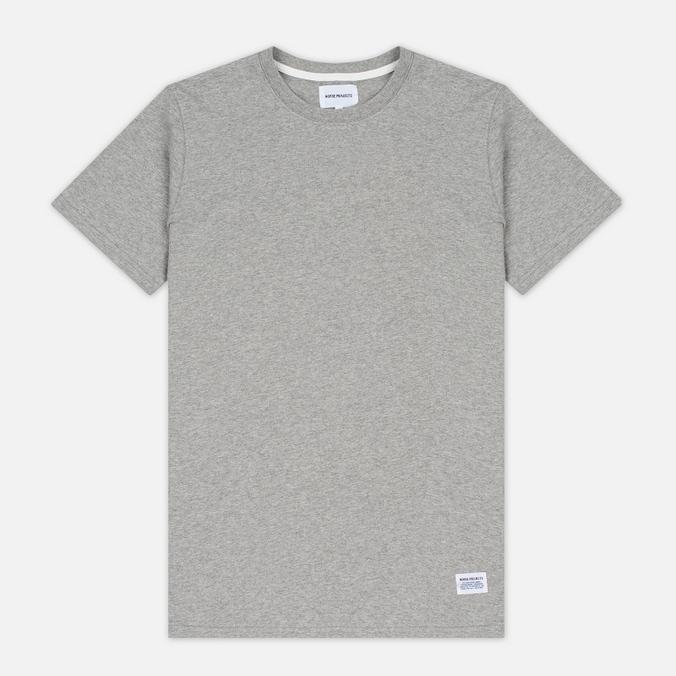 Norse Projects Niels Basic SS Men's T-Shirt Light Grey Melange
