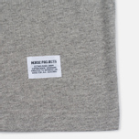 Мужская футболка Norse Projects Niels Basic SS Light Grey Melange фото- 3