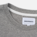 Мужская футболка Norse Projects Niels Basic SS Light Grey Melange фото- 2