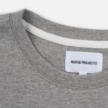 Norse Projects Niels Basic SS Men's T-Shirt Light Grey Melange photo- 2