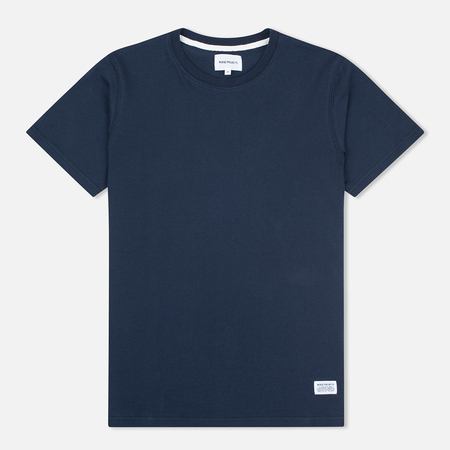 Norse Projects Niels Basic SS Men's T-shirt Navy