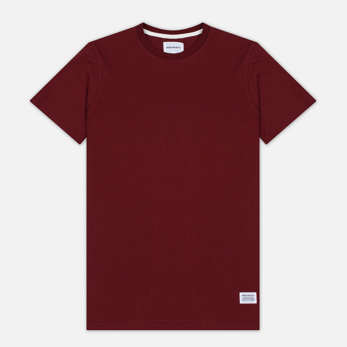 Мужская футболка Norse Projects Niels Basic SS Red Clay