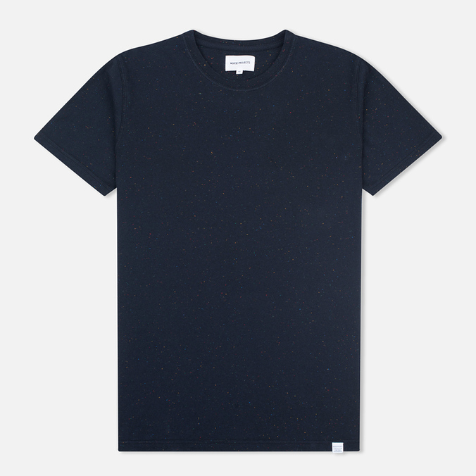 Norse Projects Niels Classic Boucle Men's T-shirt Navy