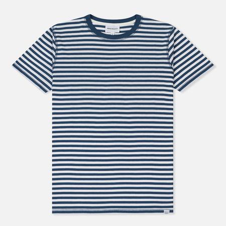 Мужская футболка Norse Projects Niels Classic Stripe Annodized Blue