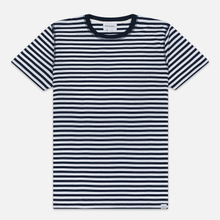 Мужская футболка Norse Projects Niels Classic Stripe Dark Navy/White фото- 0