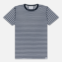 Мужская футболка Norse Projects Niels Classic Stripe Dark Navy/White