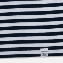 Мужская футболка Norse Projects Niels Classic Stripe Dark Navy/White фото- 2