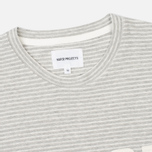 Мужская футболка Norse Projects Niels Cotton Linen Stripe Light Grey фото- 1