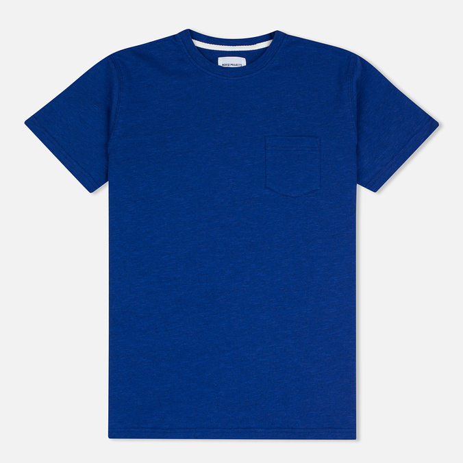 Norse Projects Niels Flame Overdye Men's T-shirt Cornflower Blue