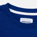 Norse Projects Niels Flame Overdye Men's T-shirt Cornflower Blue photo- 3