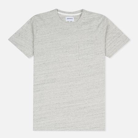 Norse Projects Niels Flame Overdye Men's T-shirt Ecru