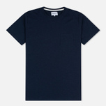 Мужская футболка Norse Projects Niels Flame Overdye Navy фото- 0