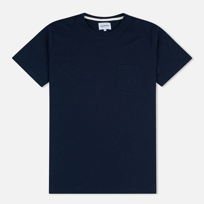 Мужская футболка Norse Projects Niels Flame Overdye Navy