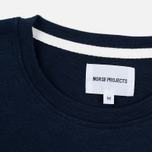 Мужская футболка Norse Projects Niels Flame Overdye Navy фото- 3