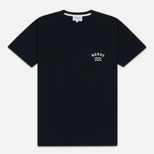 Мужская футболка Norse Projects Niels Ivy Wave Logo Dark Navy фото- 0