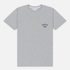 Мужская футболка Norse Projects Niels Ivy Wave Logo Light Grey Melange