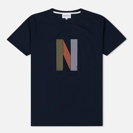 Мужская футболка Norse Projects Niels Layer Logo Dark Navy