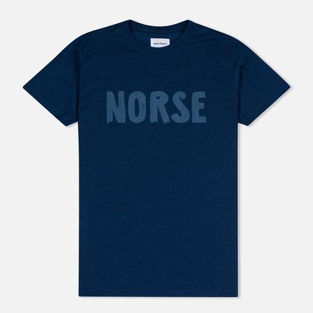 Мужская футболка Norse Projects Niels Logo Dark Indigo