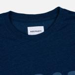 Norse Projects Niels Logo Men's T-shirt Dark Indigo photo- 1