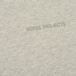 Мужская футболка Norse Projects Niels Logo Light Grey Melange фото- 2