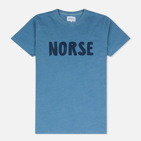 Мужская футболка Norse Projects Niels Logo Light Indigo