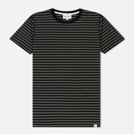 Мужская футболка Norse Projects Niels Military Stripe Black/Grey Melange