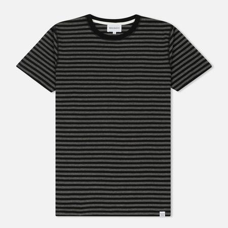 Мужская футболка Norse Projects Niels Military Stripe Black/Grey Melange