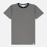 Мужская футболка Norse Projects Niels Military Stripe Kit White/Navy фото- 0