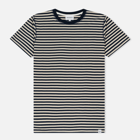 Мужская футболка Norse Projects Niels Military Stripe Kit White/Navy