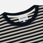 Мужская футболка Norse Projects Niels Military Stripe Kit White/Navy фото- 1