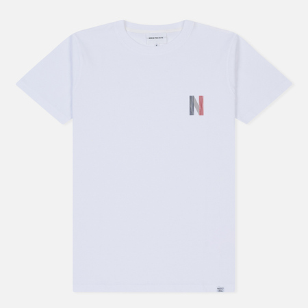 Мужская футболка Norse Projects Niels Multi Logo White