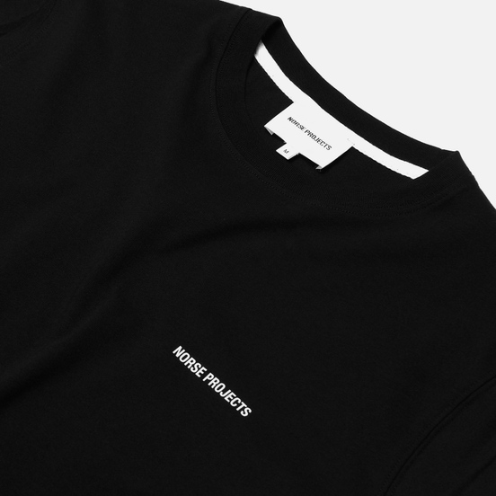 Мужская футболка Norse Projects Niels Norse Projects Logo Black
