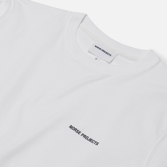 Мужская футболка Norse Projects Niels Norse Projects Logo White