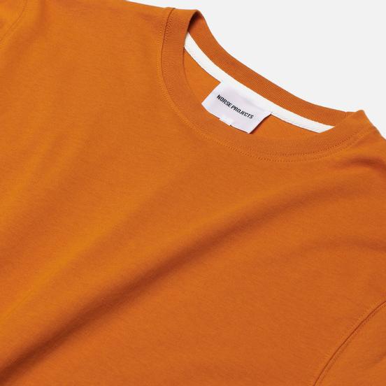 Мужская футболка Norse Projects Niels Standard Cadmium Orange