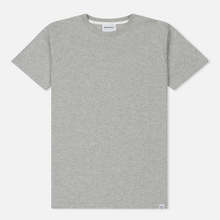 Мужская футболка Norse Projects Niels Standard Light Grey Melange фото- 0