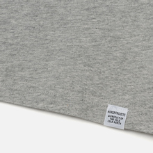 Мужская футболка Norse Projects Niels Standard Light Grey Melange фото- 2