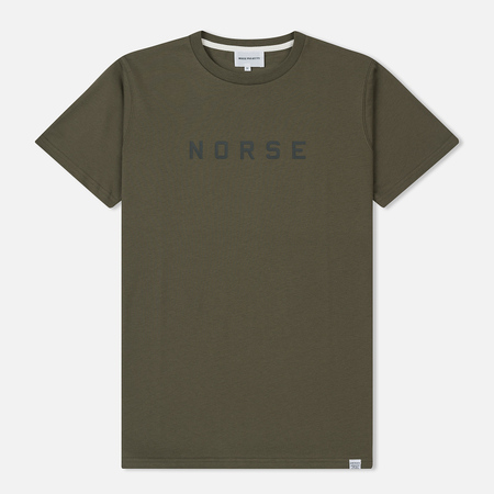 Мужская футболка Norse Projects Niels Standard Logo Lichen